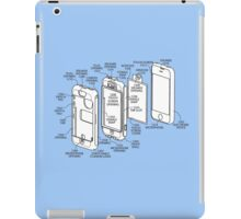 Mobile Phone (exploded) Drawing.  iPad Case/Skin