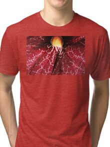 Red Dutchman's Pipe Flower - Macro Tri-blend T-Shirt
