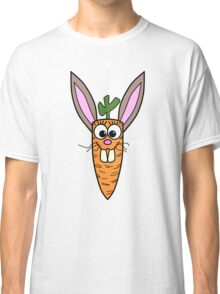 Cute Bunny Rabbit Carrot Classic T-Shirt