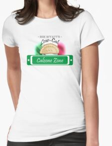 Low-Cal Calzone Zone Womens Fitted T-Shirt