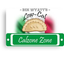 Low-Cal Calzone Zone Canvas Print