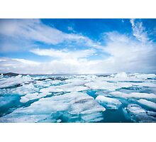 Icelandic Glacier Lagoon Design Photographic Print