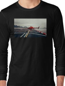 Red Helicopter Long Sleeve T-Shirt
