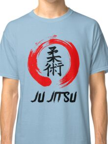 JuJitsu Kanji and red brush circle Classic T-Shirt