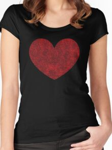 Red Heart Love Women's Fitted Scoop T-Shirt