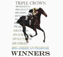 Triple Crown Winners 2015 American Pharoah One Piece - Short Sleeve