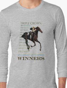 Triple Crown Winners 2015 American Pharoah Long Sleeve T-Shirt