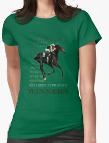 Triple Crown Winners 2015 American Pharoah Womens Fitted T-Shirt