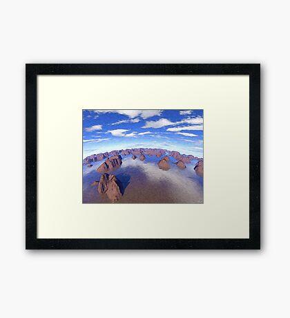 Round World of Islands Framed Print