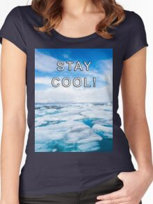 STAY COOL! ICE DESIGN Women's Fitted Scoop T-Shirt