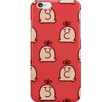 Mr. Saturn Red Pattern iPhone Case/Skin