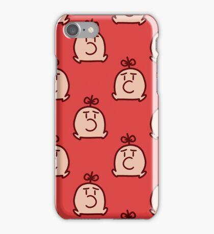 Mr. Saturn Red Pattern iPhone Case/Skin