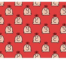 Mr. Saturn Red Pattern Photographic Print