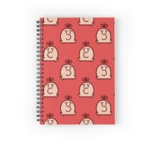 Mr. Saturn Red Pattern Spiral Notebook