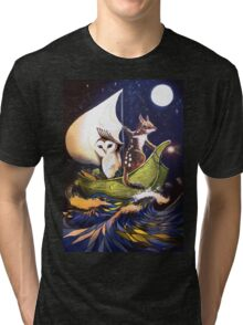 The Owl & the Quoll Tri-blend T-Shirt