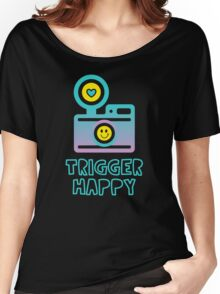 Trigger Happy Photographer Shooting People Happily Women's Relaxed Fit T-Shirt