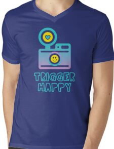 Trigger Happy Photographer Shooting People Happily Mens V-Neck T-Shirt