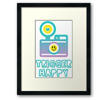 Trigger Happy Photographer Shooting People Happily Framed Print