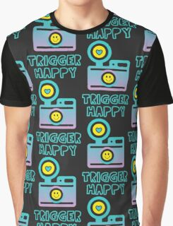 Trigger Happy Photographer Shooting People Happily Graphic T-Shirt
