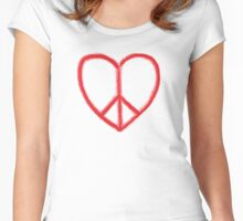 Love and Peace Women's Fitted Scoop T-Shirt