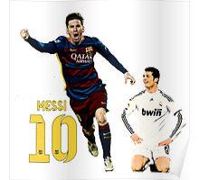 Messi vs Ronaldo Poster