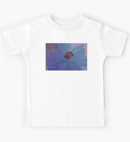 Afterglow, Vibrant, colorful poppy floral art Kids Tee