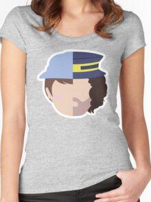 Steam Train - Dan & Ross Women's Fitted Scoop T-Shirt