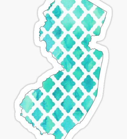 New Jersey Teal Sticker