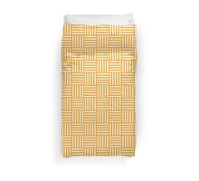 Pattern 110: Striped squares in white and orange Duvet Cover