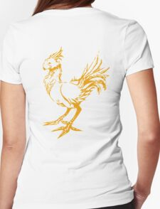 Gold chocobo Womens Fitted T-Shirt