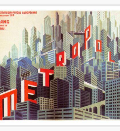 Metropolis Buildings Sticker