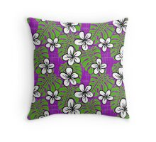 Garden's Edge Board Short purple Throw Pillow