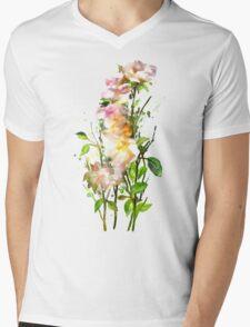 Yellow Wild Roses Mens V-Neck T-Shirt