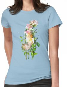 Yellow Wild Roses Womens Fitted T-Shirt
