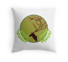 Wild Wonders Deer Throw Pillow