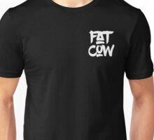 Fat Cow Logo - White Unisex T-Shirt