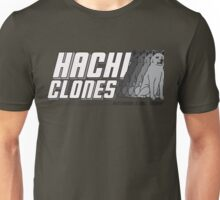 HachiClones - World's Most Loyal Dogs - Clean Grey Design Unisex T-Shirt