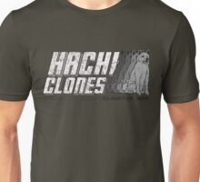 HachiClones - World's Most Loyal Dogs - Distressed Grey Design Unisex T-Shirt