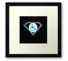 Handicap Superhero Framed Print