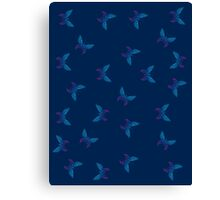 Butterflies dotted pattern Canvas Print