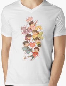 Osomatsu San Mens V-Neck T-Shirt