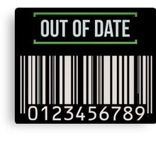 Out of date - barcode Canvas Print