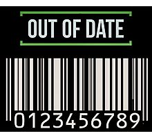 Out of date - barcode Photographic Print