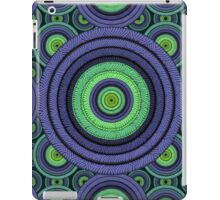 Back to 70's, blue & green iPad Case/Skin