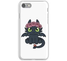 Flower Crown Toothless iPhone Case/Skin