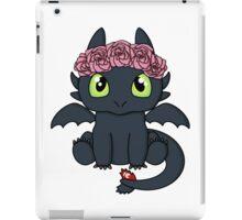 Flower Crown Toothless iPad Case/Skin