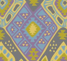 Aztec Tribal Pattern - Purple/Lime Sticker