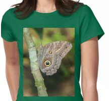 Giant Owl Butterfly Womens Fitted T-Shirt