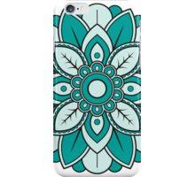 Cyan Mandala iPhone Case/Skin