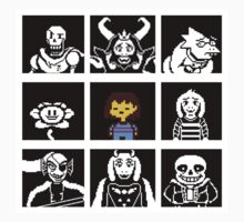 Undertale Grid  One Piece - Short Sleeve